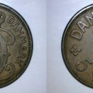 1934 N-GJ Danish 5 Ore World Coin - Denmark