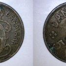 1928 N-GJ Danish 5 Ore World Coin - Denmark