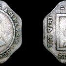1920 B Indian 4 Anna World Coin - British India