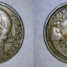 1932 French 2 Franc World Coin - France