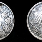 1918 A German Empire Half (1/2) Mark World Silver Coin -  Germany