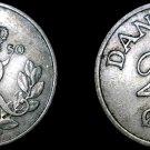 1950 Danish 25 Ore World Coin - Denmark