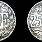 1924 French 25 Centimes World Coin - France