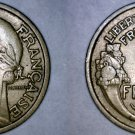 1938 French 2 Franc World Coin - France