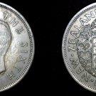 1950 Great Britain Half Crown World Coin UK England