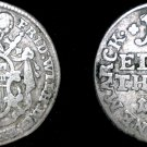 1763 German States Hildesheim 1/12th Thaler (2 Groschen) World Coin