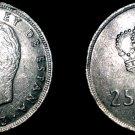 1983 Spanish 25 Peseta World Coin - Spain
