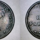1844 Great Britain 1/2 Farthing World Coin - UK - England