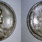 1936-P Abraham Lincoln Wheat Penny