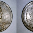 1935-P Abraham Lincoln Wheat Penny