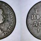 1777 Austrian Netherlands  1 Liard World Coin