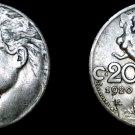 1920-R Italian 20 Centesimi World Coin - Italy