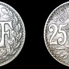1920 French 25 Centimes World Coin - France