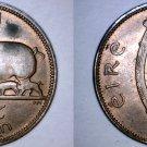 1942 Irish 1/2 Half Penny World Coin - Ireland