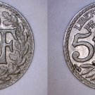 1924 French 5 Centimes World Coin - France