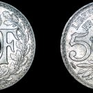 1917 French 5 Centimes World Coin - France