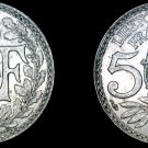 1918 French 5 Centimes World Coin - France