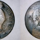 1855-A French 5 Centimes World Coin - France