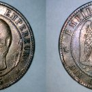 1855-K French 10 Centimes World Coin - France