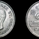 1937 Canadian Nickel 5 Cent World Coin - Canada
