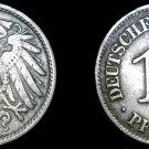 1911-E German 10 Pfennig World Coin -  Germany
