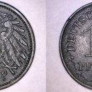 1921 German 10 Pfennig World Coin -  Germany