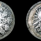 1874 D German Empire 1 Mark World Silver Coin -  Germany
