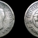 1944 Great Britain 3 Pence  World Silver Coin - UK