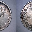 1885 Great Britain 3 Pence  World Silver Coin - UK