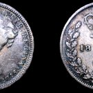 1874 Great Britain 3 Pence  World Silver Coin - UK