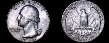 1964-D Washington Quarter Silver