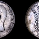 1886 Belgian 1 Franc World Silver Coin - Belgium