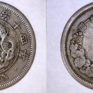 1881 (YR14) Japanese  2 Sen World Coin - Japan
