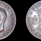 1950 Great Britain 1/2 Crown World Coin - UK - England