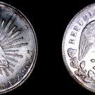 1899-Zs FZ Mexican 1 Peso World Silver Coin - Mexico