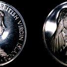 1973 British Virgin Islands 25 Cent Proof World Coin - Mangrave Cuckoo