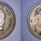 1945 Monaco 1 Franc World Coin