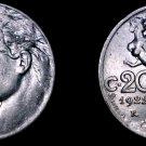 1922-R Italian 20 Centesimi World Coin - Italy