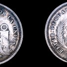 1864/3-YB South Peruvian 1 Dinero World Silver Coin - South Peru - Holed