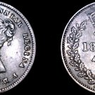 1854 PL Great Britain 4 Pence World Silver Coin - UK - England - Holed