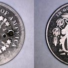 1866 Shield Nickel - Rays - Hole Marked