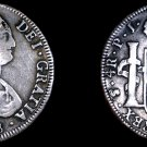 1808 PTS-PJ Bolivian 4 Reales World Silver Coin - Charles IV - Holed