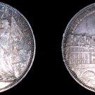1876 Switzerland Lausanne 5 Franc World Silver Coin