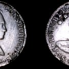 1843-PTS LR Bolivian 8 Soles World Silver Coin - Bolivia - Tooled