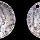 1811-M Italian States Kingdom of Napoleon 5 Lire World Silver Coin - Holed