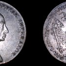 1826-B Austrian 1 Thaler World Silver Coin - Austria - Mount Removed