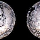 1830-D France 5 Franc World Silver Coin - Louis Philippe - Edge Damage