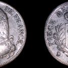 1815-Q French 5 Franc World Silver Coin -  Louis XVIII - Holed