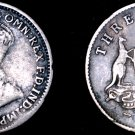 1926 Australian 3 Pence Silver World Coin - Australia