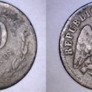 1873-Mo M Mexican 10 Centavo World Silver Coin - Mexico